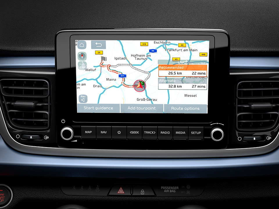 "Sistem de navigație cu display de 8.0"""