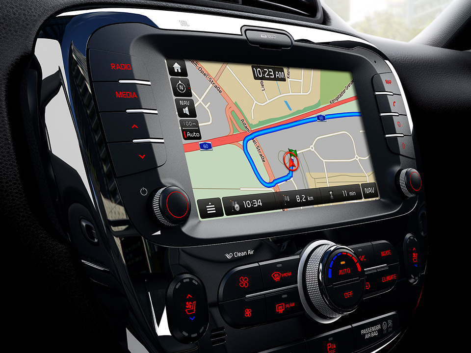 Navigație AVN 4.0 + Rear-view Camera + RDS + DAB -  Amplificator extern (cu Bluetooth)
